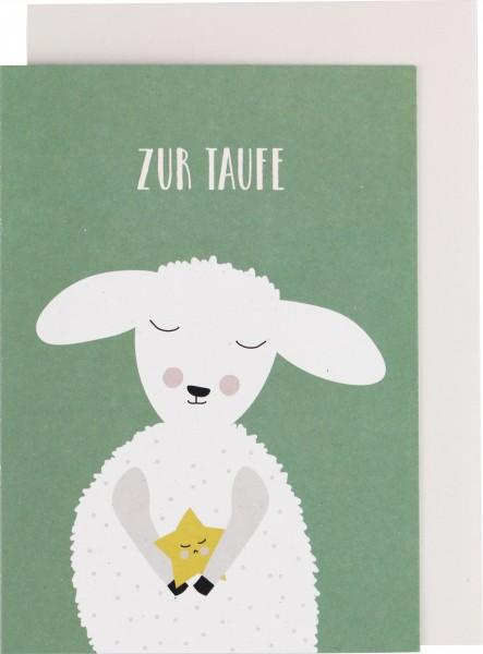 "Ava & Yves Klappkarte Lamm ""zur Taufe"""