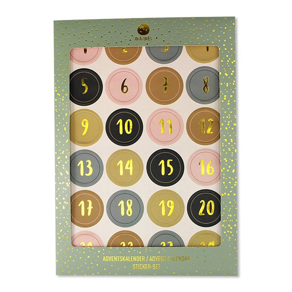 Ava & Yves Adventskalender Sticker mint