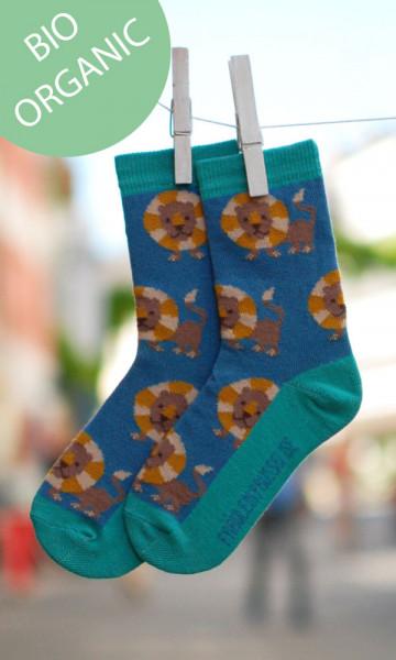 Fräulein Prusselise Socken Löwe Bio dunkelblau