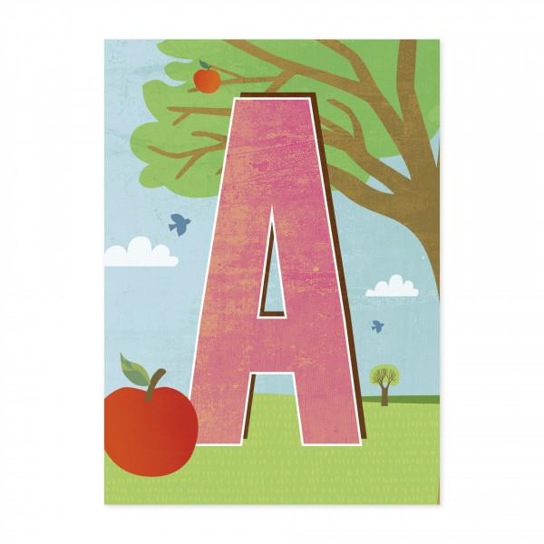Monimari Buchstabenkarte