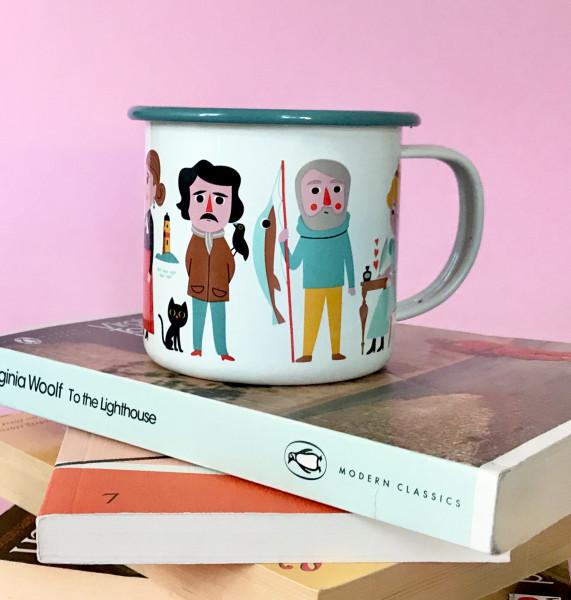 OMM Design Emaillebecher Book Lover