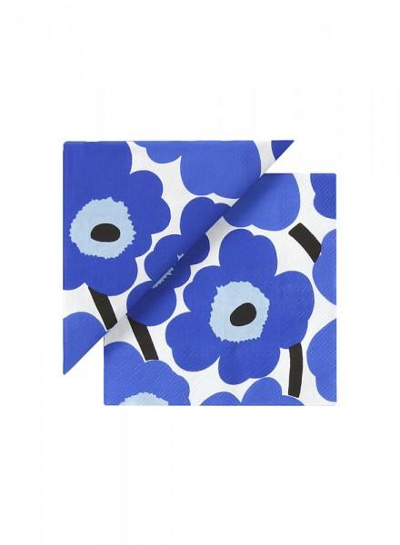 Marimekko Servietten Unikko blue
