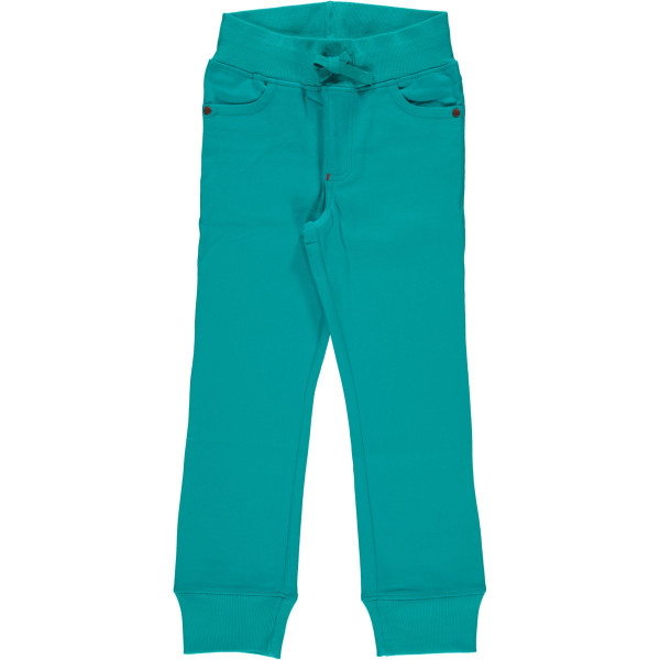 Maxomorra Pants Rib Twill Turquoise