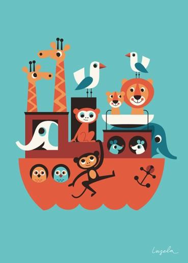"""OMM Design - Poster """"Noahs Arche"""" - Ingela P Arrhenius"""