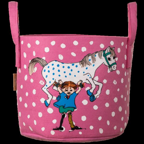 Muurla Pippi Aufbewahrungskorb rosa (30 Liter)