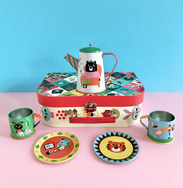 OMM Design Tin Tea Set - Animals