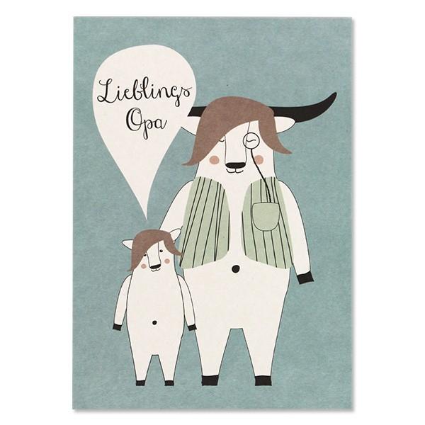 Ava & Yves Postkarte Lieblings Opa