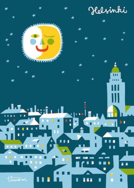Kehvola Karte Goodnight Helsinki