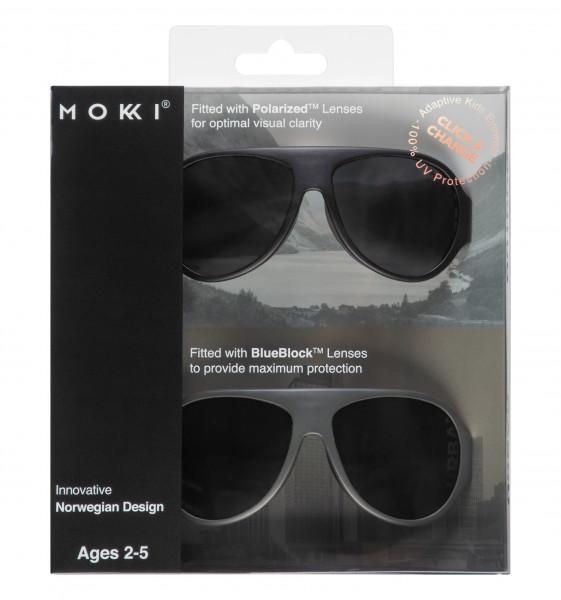 Mokki Sonnenbrillen Click & Change Black 2-5 Jahre