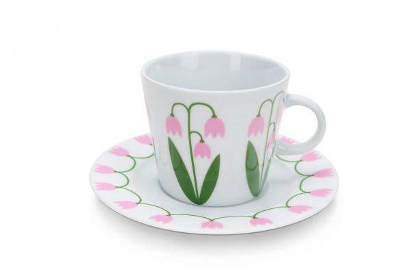 Floryd Kaffe Tasse mit Unterteller Linnéa