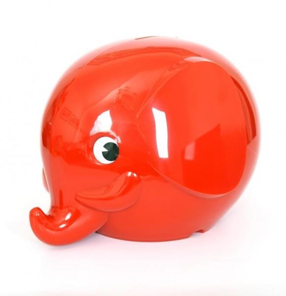 Norsu Sparbüchse Elefant rot