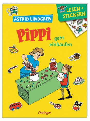Pippi geht einkaufen - Lesen und Stickern