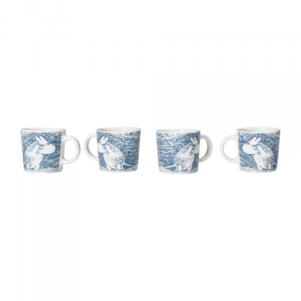 Iittala Mumin Mini-Cups 4 Stück Winteredition 2020 Snowblizzard
