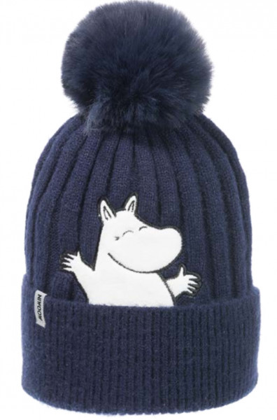 Nordic Buddies Mumin Moomin Mütze Erwachsene dunkelblau mit Bommel