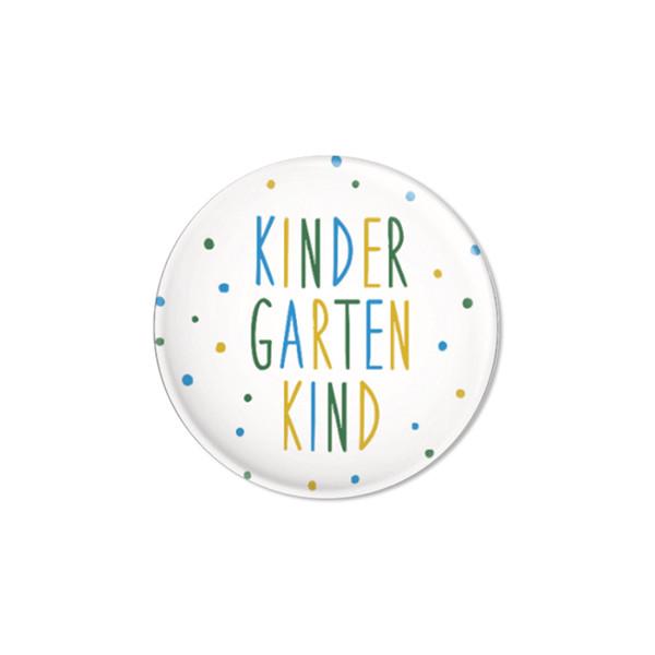 Ava & Yves Button Kindergartenkind Konfetti blau