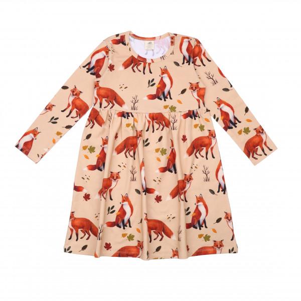 Walkiddy Langarmkleid Red Foxes