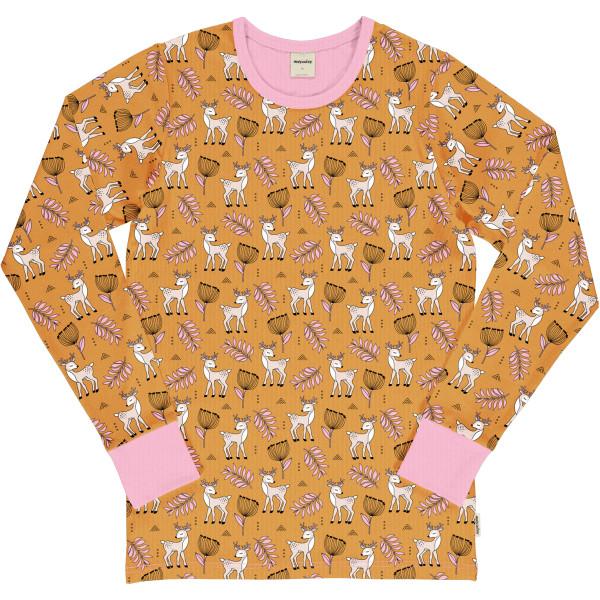 Meyadey Langarmshirt Adult Poppy Deer