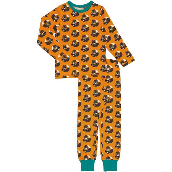 Maxomorra Schlafanzug Langarm Squirrel