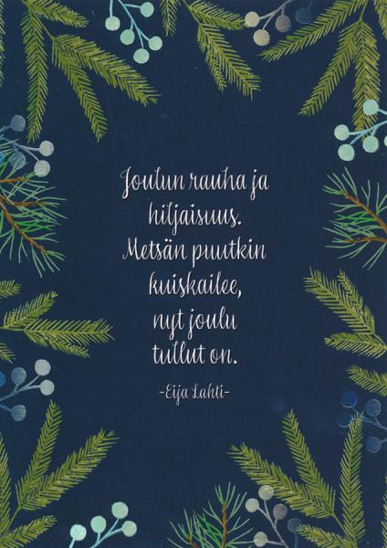 Karto - Weihnachtskarte auf finnisch