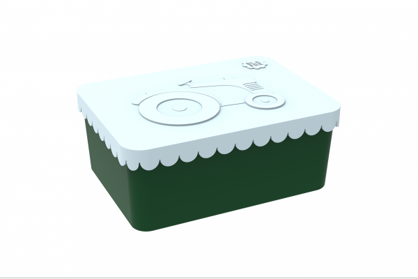 Blafre Lunchbox klein Traktor dunkelgrün/hellblau