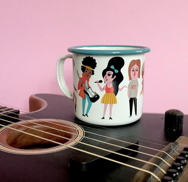 OMM Design Emaillebecher Music Lover