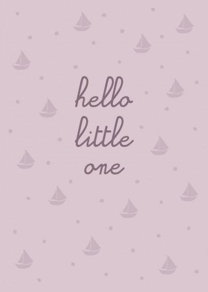 Ava & Yves Postkarte Hello little one