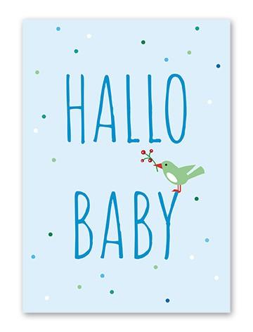 """Tante Trudel Karte """"Baby Vogel Junge"""""""