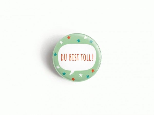 Tante Trudel Button Du bist toll