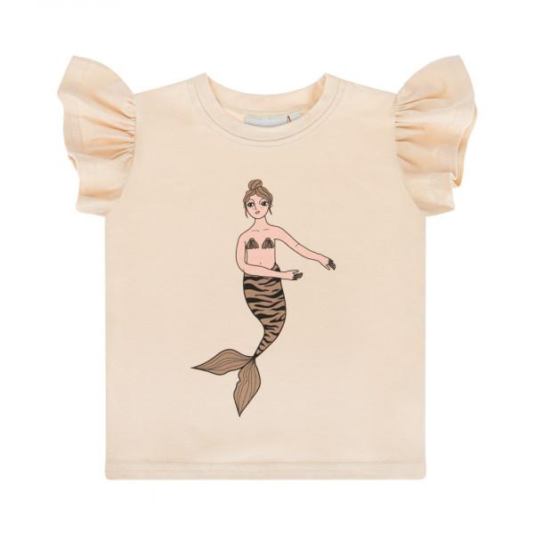 Dear Sophie Mermaid Shirt mit Flügelärmeln Ecru