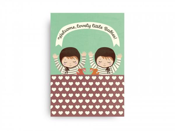 Monimari Karte Welcome lovely little Babies