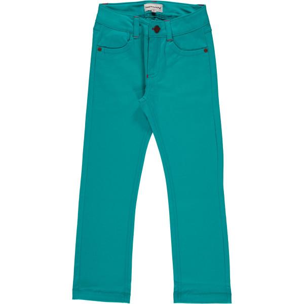 Maxomorra Pants Twill Turquoise