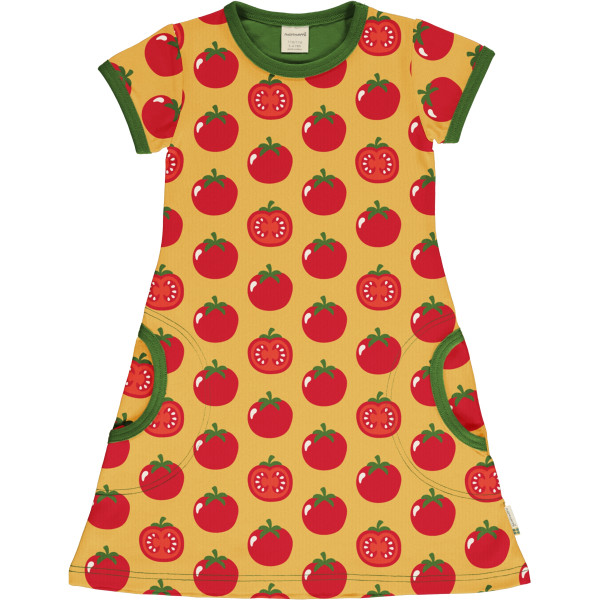Maxomorra Kurzarmkleid Tomato