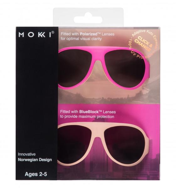 Mokki Sonnenbrillen Click & Change Rosa 2-5 Jahre