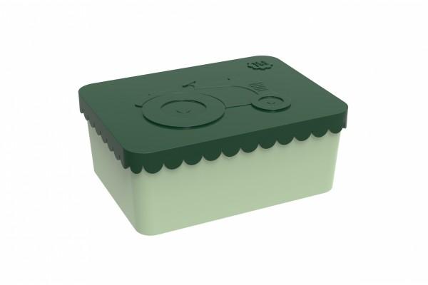 Blafre Lunchbox klein Traktor dunkelgrün/hellgrün