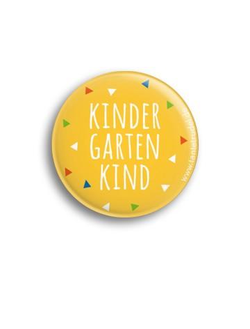 Tante Trudel Button Kindergartenkind gelb