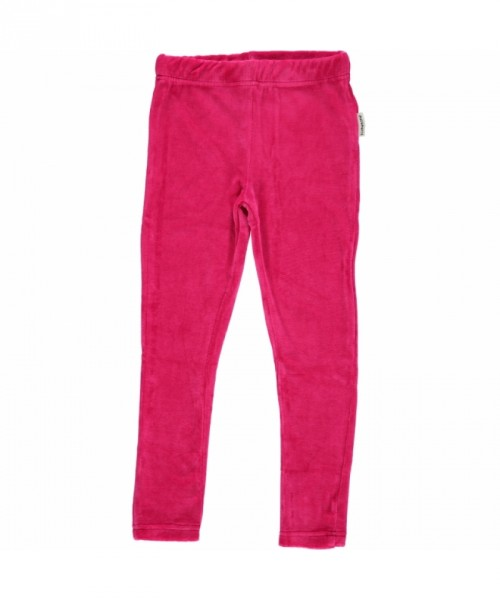 Maxomorra Leggings velour cerise