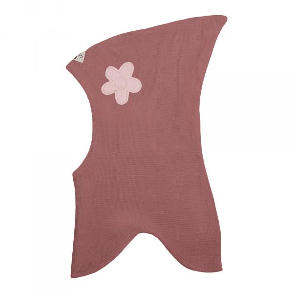 Racing Kids Schlupfmütze uni rosa mit Blumen-Applikation
