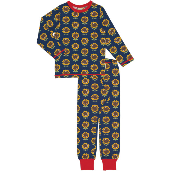 Maxomorra Schlafanzug Langarm Sunflower