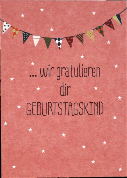 """Ava & Yves Postkarte """"Wir gratulieren dir"""""""