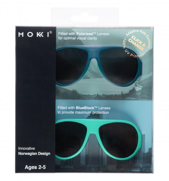Mokki Sonnenbrillen Click & Change Blau 2-5 Jahre