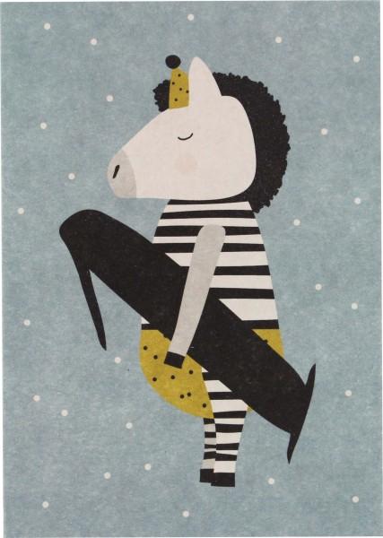 Ava & Yves Postkarte Zebra - 1 Jahr