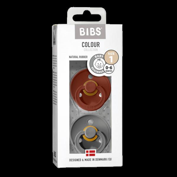 Bibs Schnuller Rust & Smoke