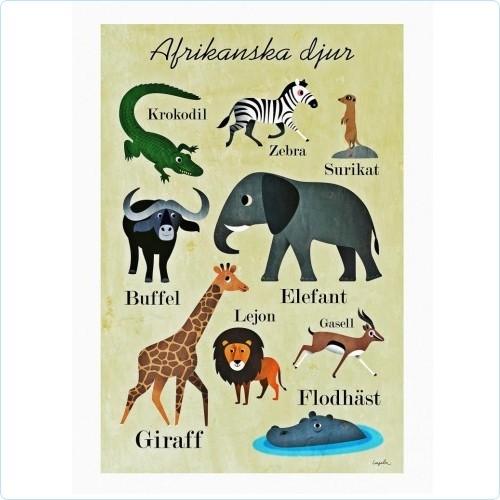 "OMM Design Poster - ""Afrikanska djur"" - Ingela P. Arrhenius"