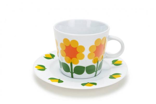Floryd Kaffe Tasse mit Unterteller Moltebeere