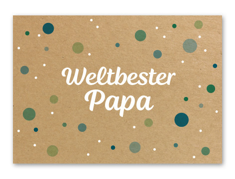 "Tante Trudel Karte ""Weltbester Papa"""