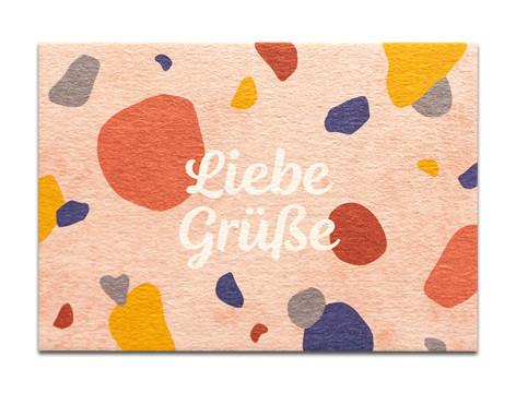 """Tante Trudel Karte """"Liebe Grüße"""""""