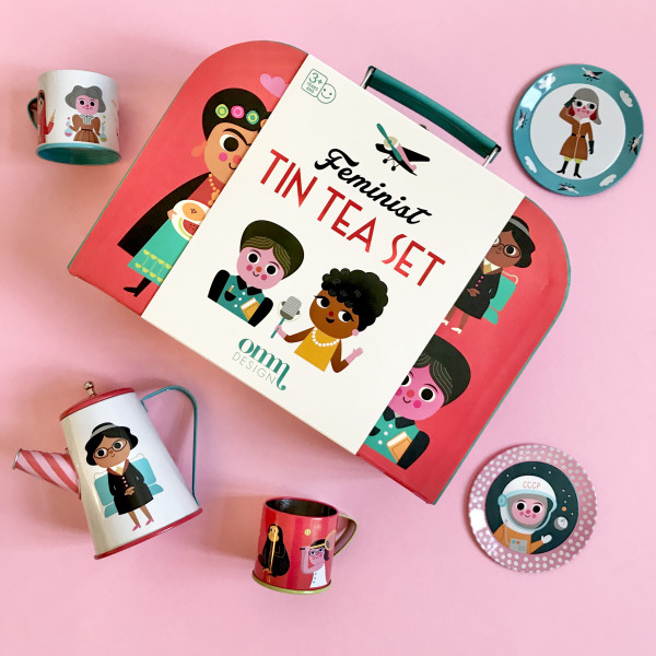 OMM Design Tin Tea Set - Feminist