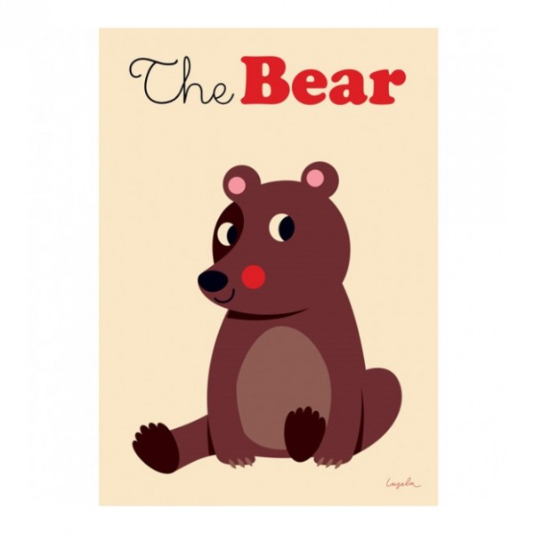 OMM Design - Poster Brown Bear