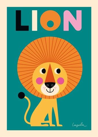 "OMM-Design - Poster ""Lion"""