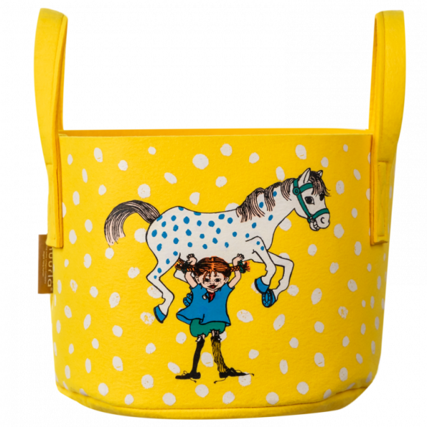 Muurla Pippi gelb Aufbewahrungskorb (17 Liter)